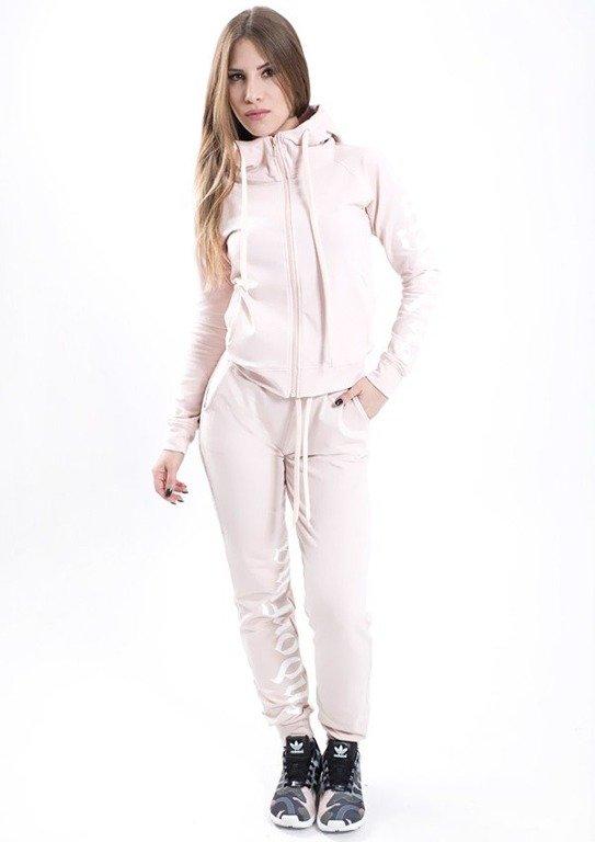 Endorfina Bluza Z Kapturem Zip Got Pale Pink