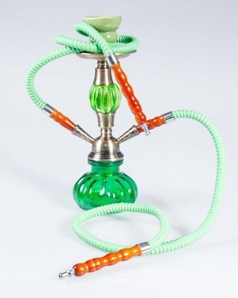 FAJKA SHISHA GLASS BULLET DOUBLE GREEN