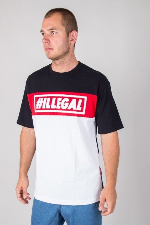 ILLEGAL T-SHIRT ILLEGAL RED BLACK