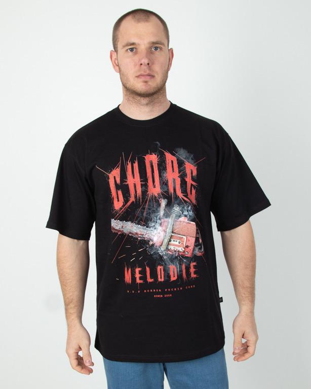 Koszulka Brain Dead Familia Chore Melodie Black