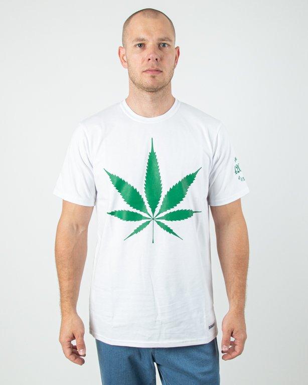 Koszulka Diamante Wear God Bless Weed White