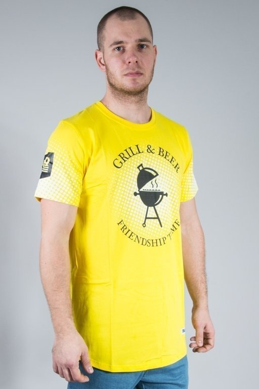 Koszulka Diamante Wear Grill & Beer Yellow