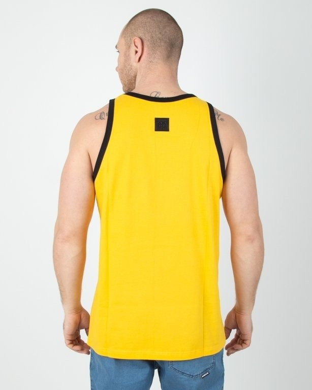 Koszulka El Polako Tank Top Cut Color Yellow-White