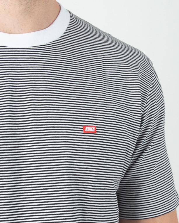 Koszulka Koka Stripes Label Black