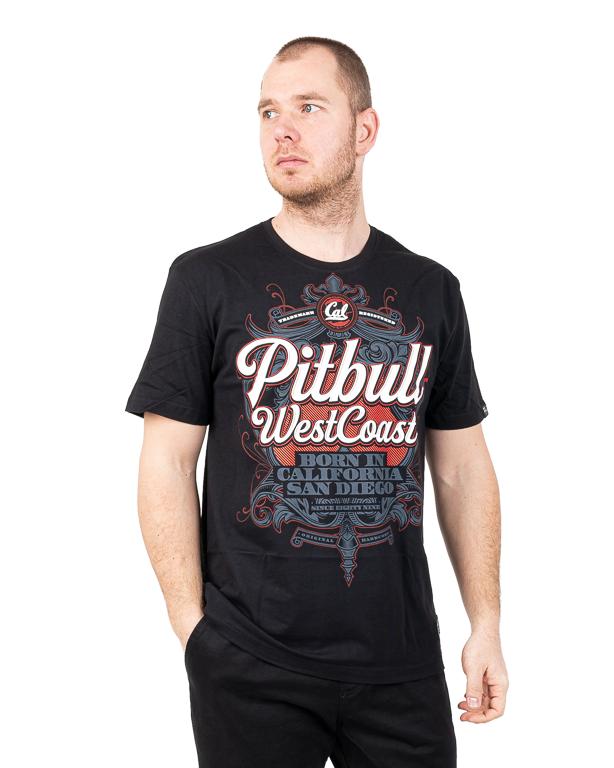 Koszulka Pit Bull Born In California Czarna