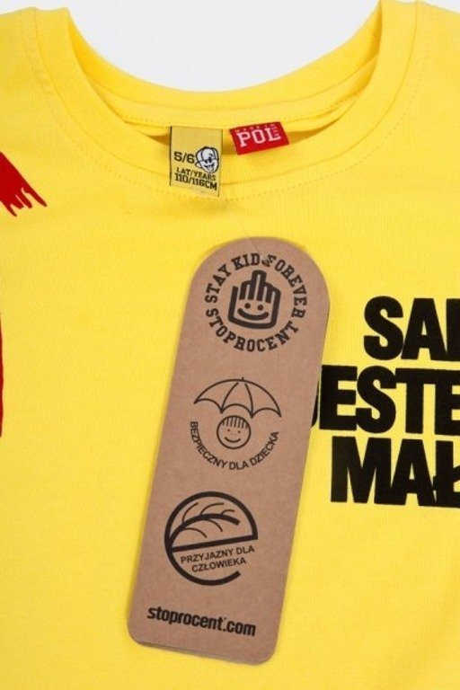 Koszulka Stoprocent Kid Mały Yellow