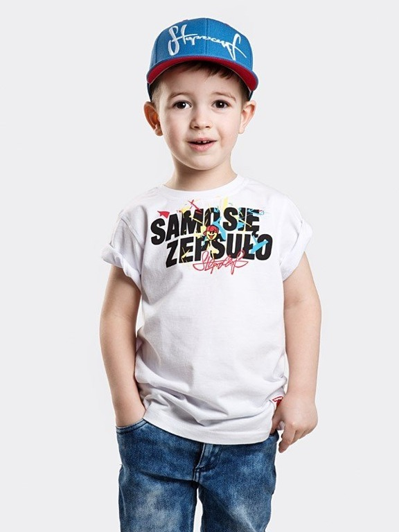 Koszulka Stoprocent Kid Samo White