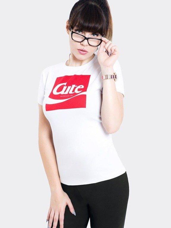 Koszulka Stoprocent Woman Cute17 White