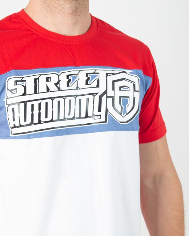 Koszulka Street Autonomy Receing Red-White