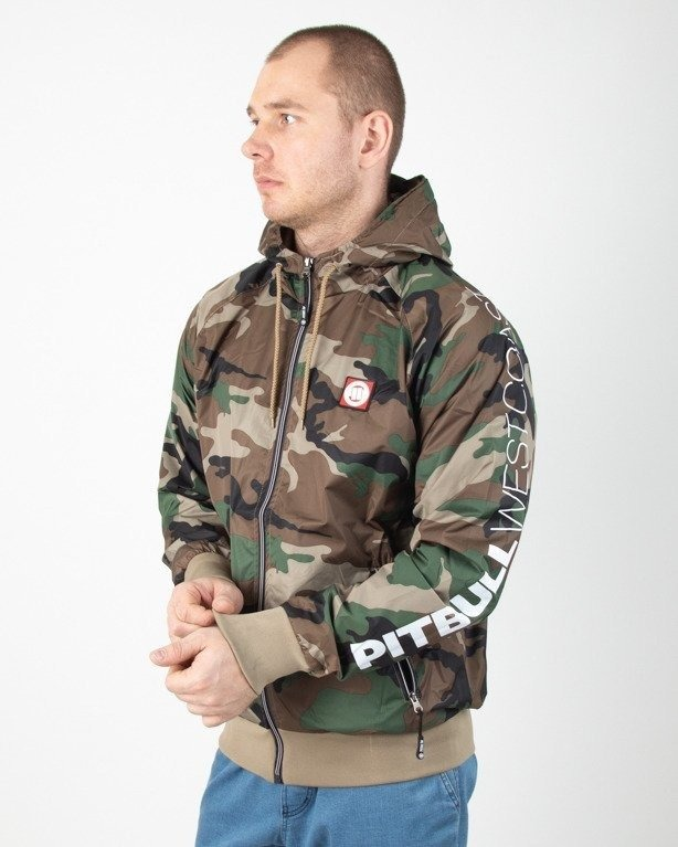 Kurtka Pitbull Wiatrówka Zip Athletic Ix Camo