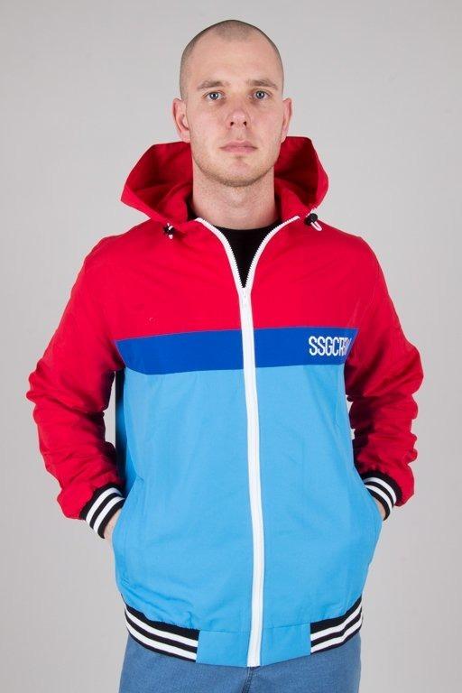 Kurtka SSG Wiatrówka Zip Color Blue-Red