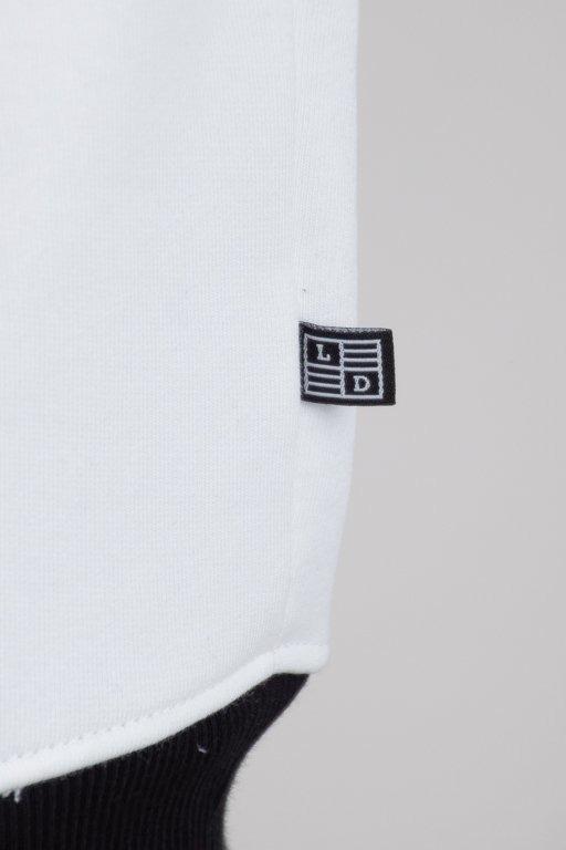LUCKY DICE CREWNECK LOGO RAGLAN STRIPES WHITE-BLACK