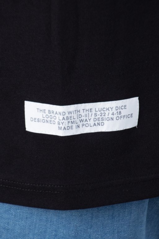 LUCKY DICE T-SHIRT LOGO RAGLAN TAPE BLACK