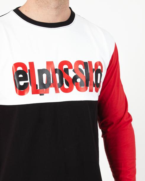 Longsleeve El Polako Half Classic Black-Red