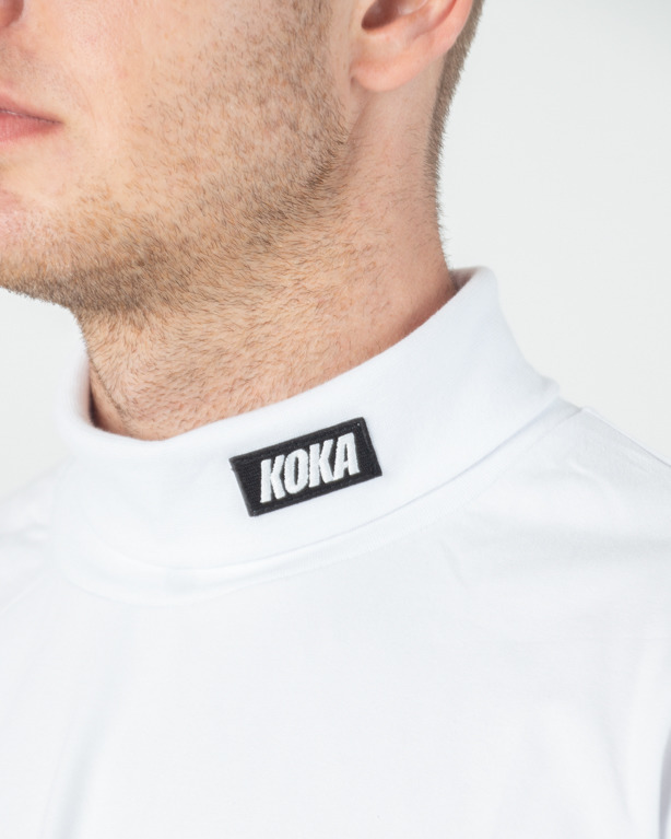 Longsleeve Koka Golf Turtleneck White