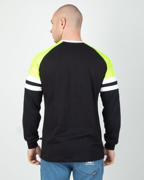Longsleeve Lucky Dice College Black-Neon