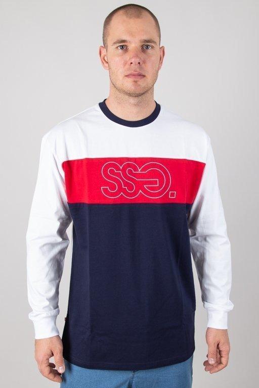 Longsleeve SSG Triple Outline White-Red-Navy