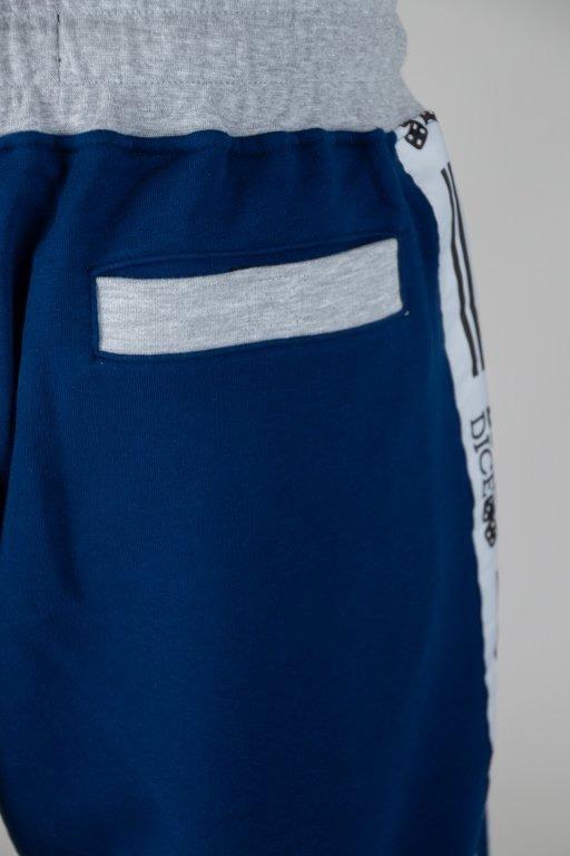 Lucky Dice Spodnie Dresowe Logo Tape Navy