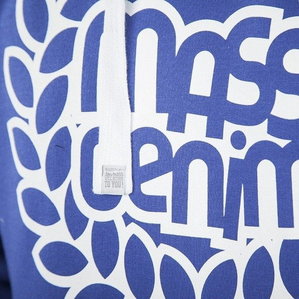 MASS BLUZA Z KAPTUREM BASE 013 FV BLUE-WHITE