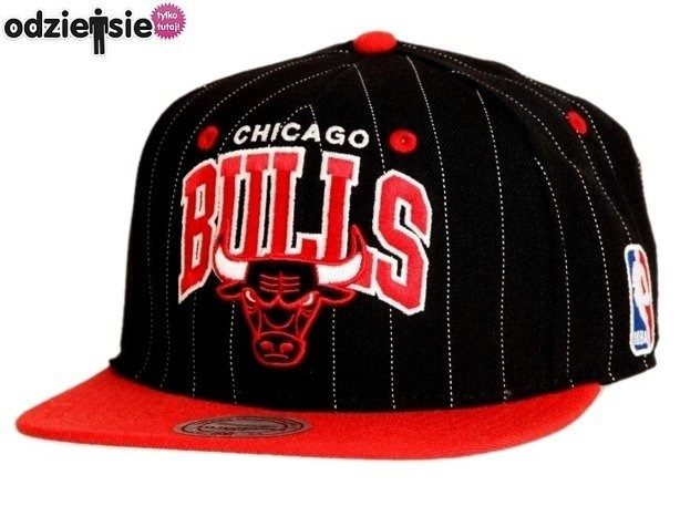 MITCHELL & NESS CZAPKA NBA SNAPBACK PIN CHICAGO BULLS