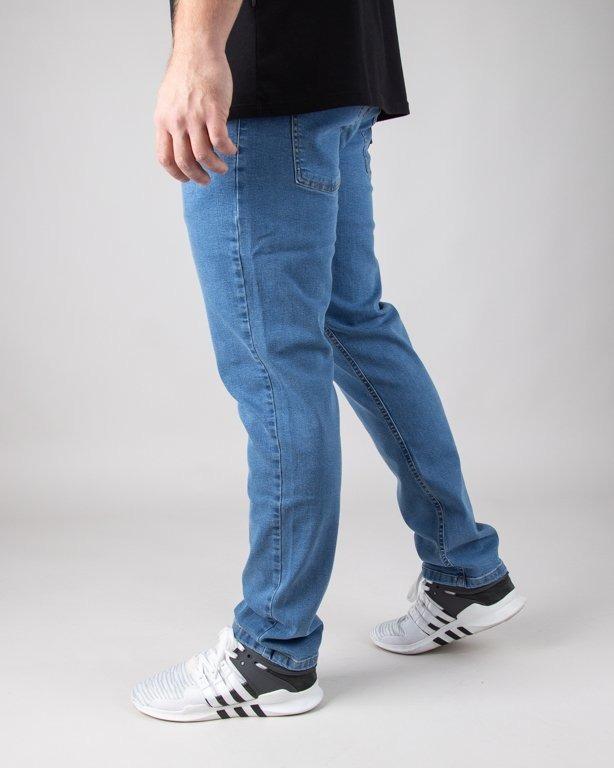 Moro Spodnie Jeansy Straight Fit Leather Shield Light