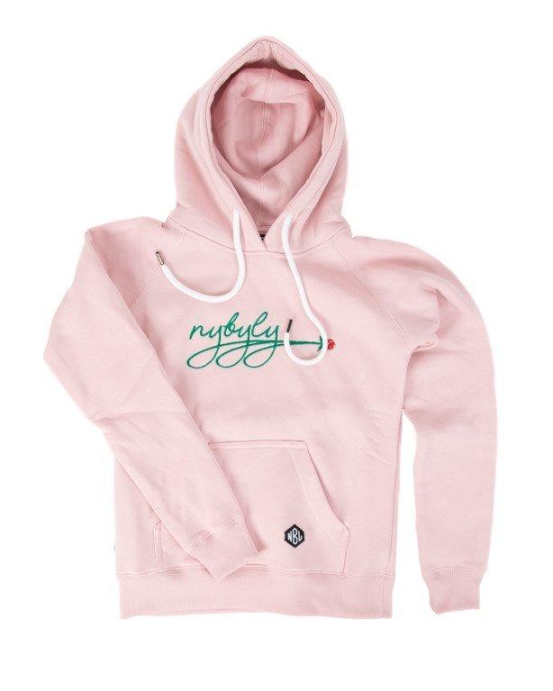 New Bad Line Bluza Z Kapturem Damska Rose Pink