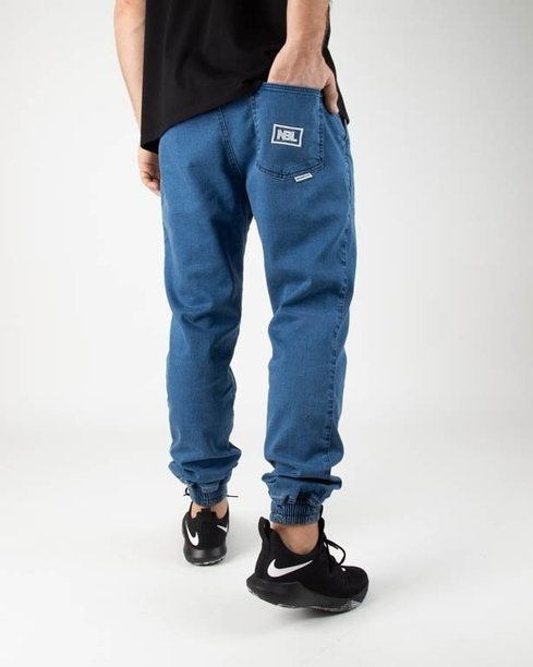 New Bad Line Spodnie Jeansy Jogger Icon Light