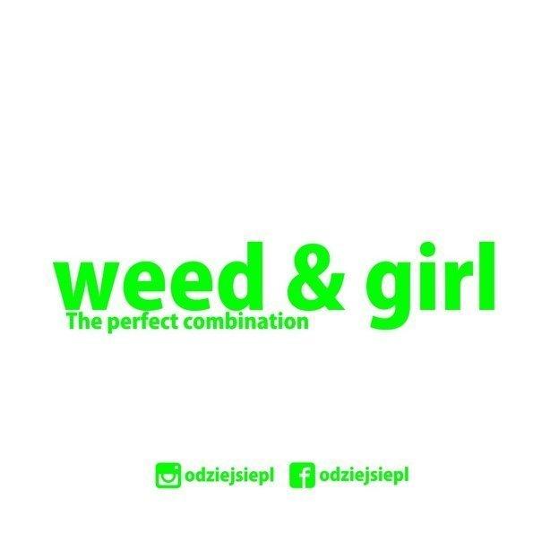Odziejsie Wlepka Weed&Girl White