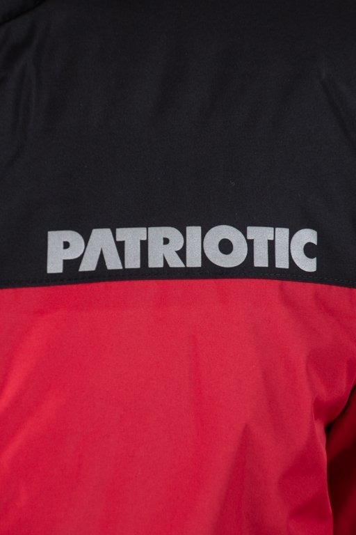 PATRIOTIC WINTER JACKET PARKA FUTURA REFLEX RED-BLACK