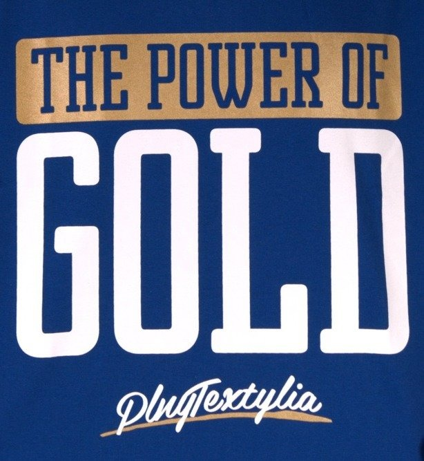 PLNY KOSZULKA POWER OF GOLD BLUE