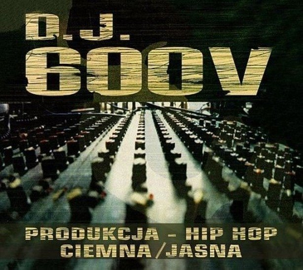 PŁYTA CD DJ 600V HIP HOP PRODUKCJA  CIEMNA/JASNA 2CD