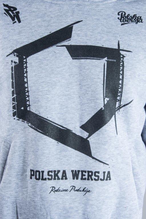 POLSKA WERSJA HOODIE KONTUR MELANGE
