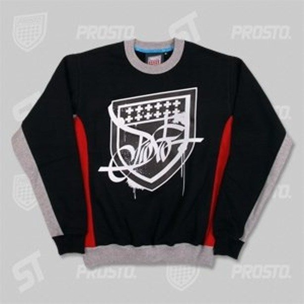 PROSTO BLUZA ELEGANCKO TAG SHIELD BLACK