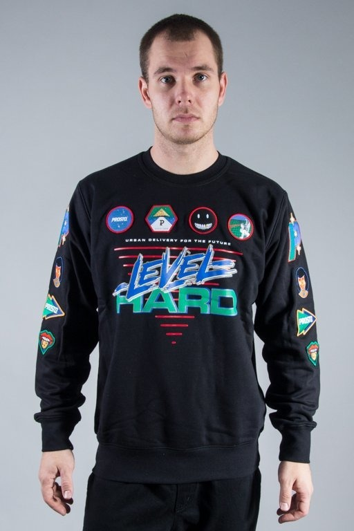 PROSTO CREWNECK LEVEL SO DEEP BLACK
