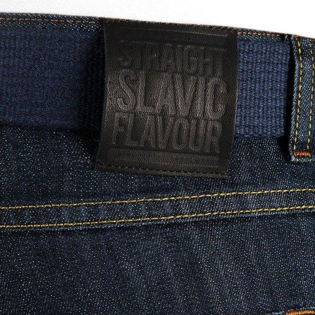 PROSTO SPODENKI KRÓTKIE JEANS SLAVIC DARK BLUE