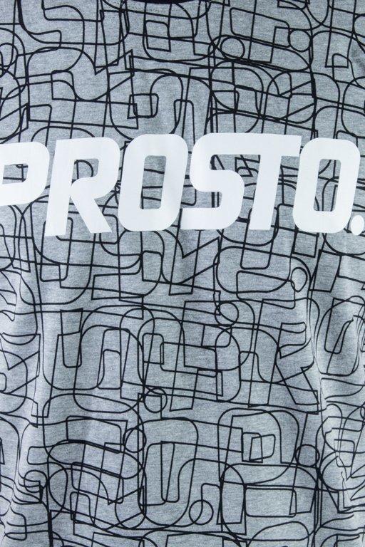PROSTO T-SHIRT LINES GREY-BLACK