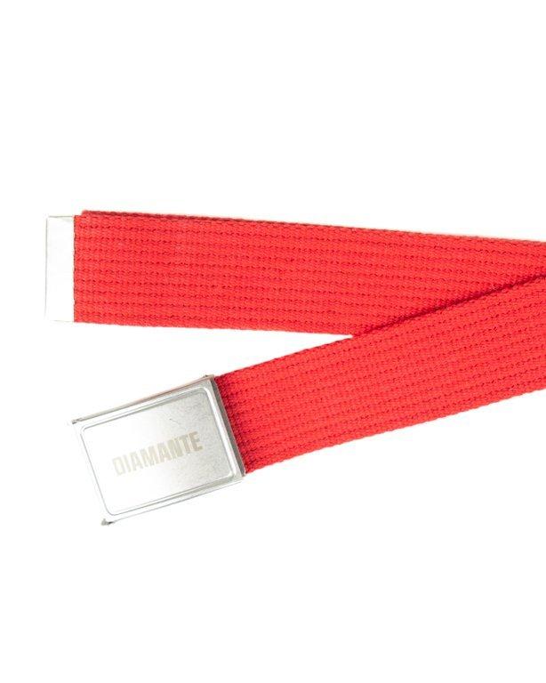 Pasek Parciany Diamante Wear New Red-Silver