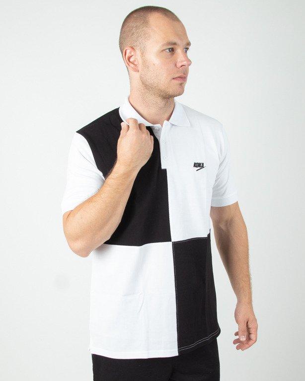 Polo Koka Chees White-Black