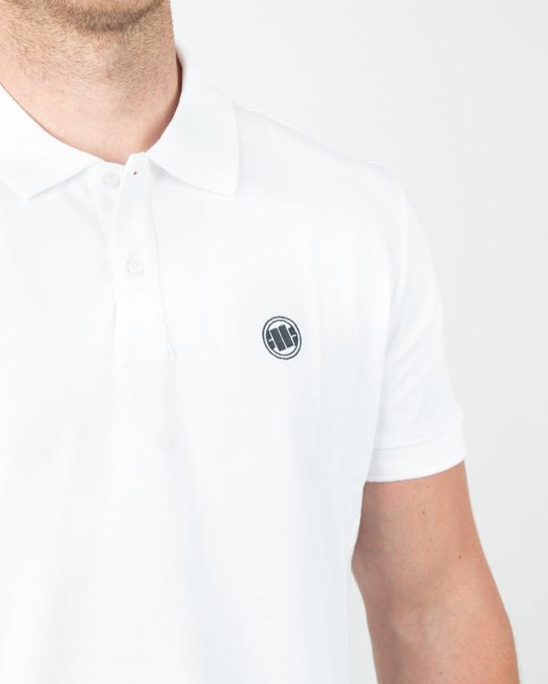 Koszulka Pitbull Polo Circle Logo White