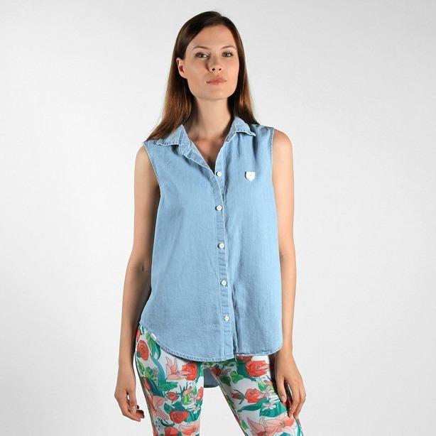 Prosto Koszula Damska Shirt Light Blue