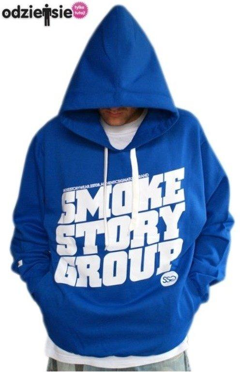 SMOKE STORY BLUZA SM GROUP BLUE