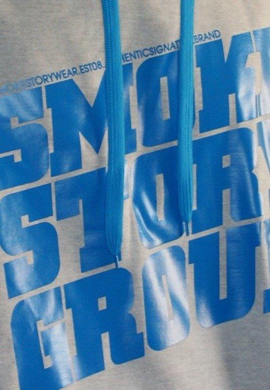 SMOKE STORY BLUZA SM GROUP MELANGE-BLUE