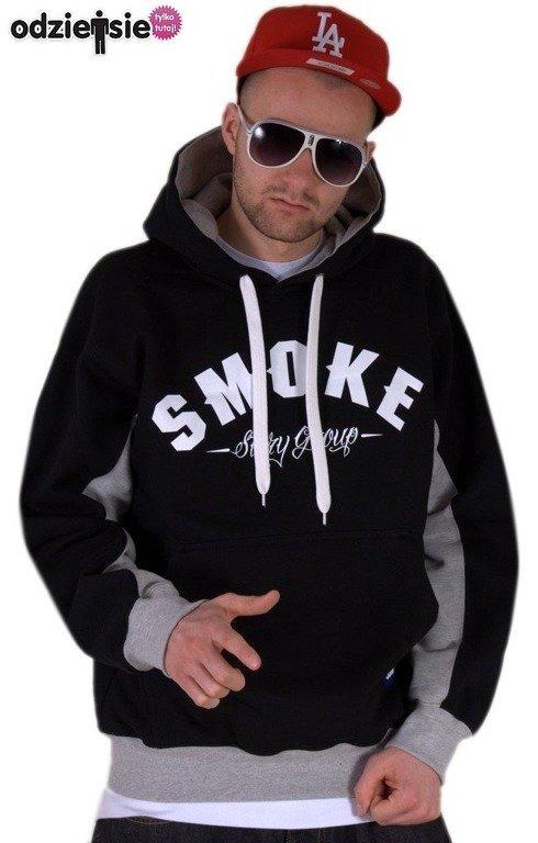 SSG BLUZA Z KAPTUREM SMOKE BLACK-GRAY