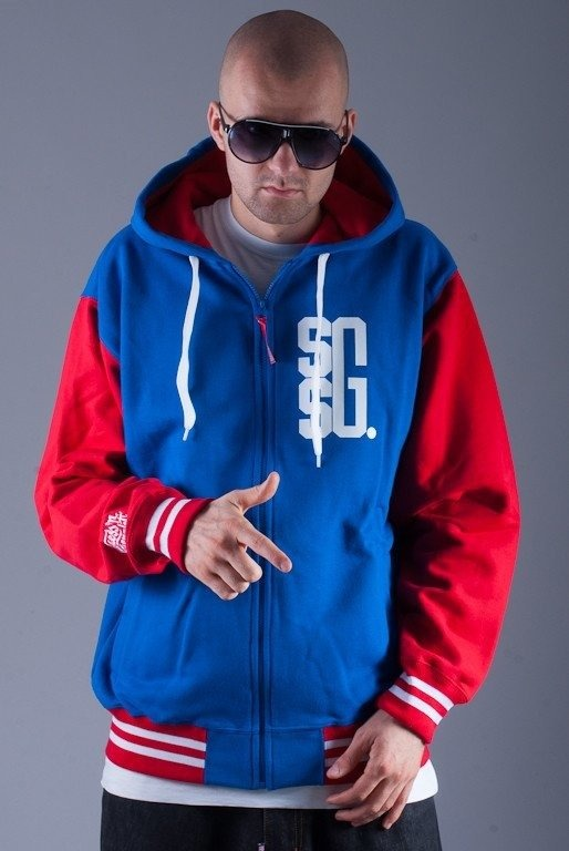 SSG BLUZA Z KAPTUREM ZIP BIG G BLUE-RED