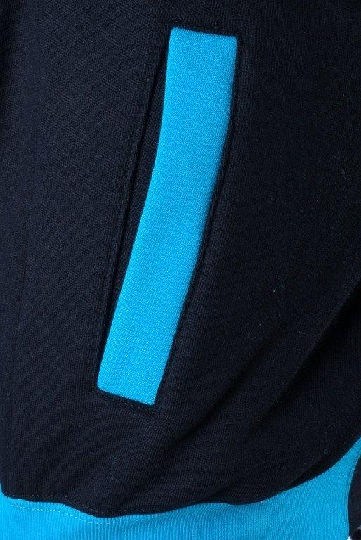 SSG BLUZA Z KAPTUREM ZIP INSIDE BLACK-BLUE