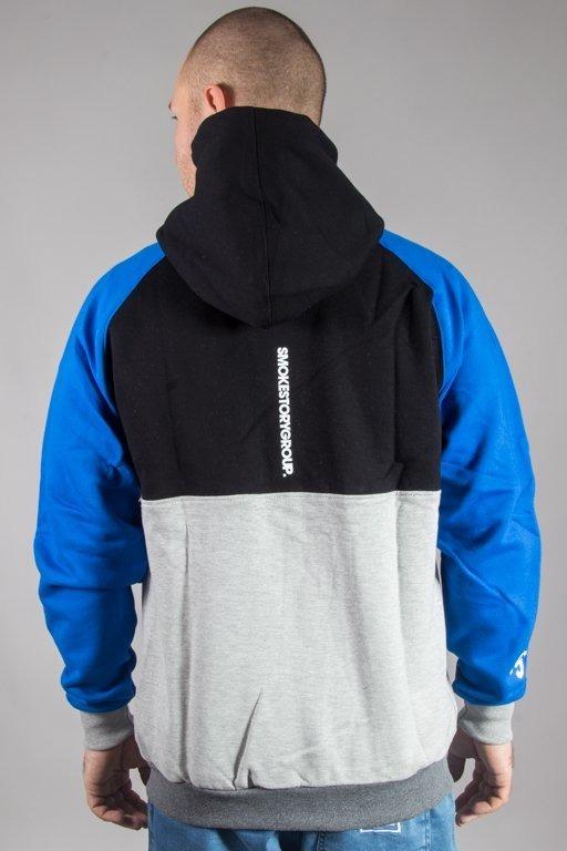 SSG HOODIE ZIP PREMUM COLORFUL BLACK-BLUE