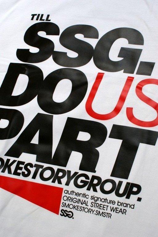 SSG SMOKE STORY GROUP KOSZULKA PART WHITE
