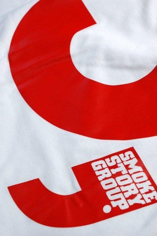 SSG SMOKE STORY GROUP KOSZULKA S WHITE-RED