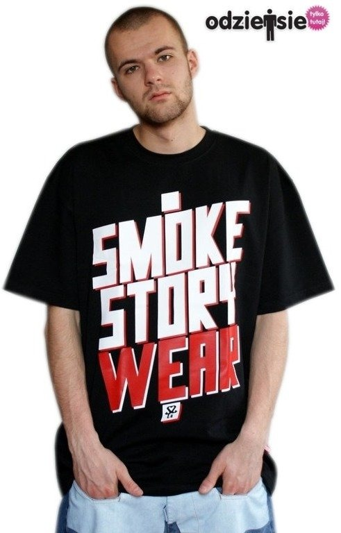 SSG SMOKE STORY KOSZULKA SM WEAR BLACK-RED