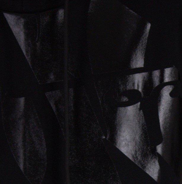 STOPROCENT BLUZA Z KAPTUREM FRONT BACK 3D BLACK